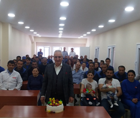 We celebrated the 14th anniversary of our company with the participation of all personnel on April 26.