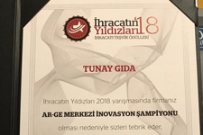 Tunay Gıda was the winner of Stars of Export Competition