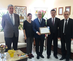Since we are one of the top five taxpayers in our province in 2017, Erzincan Revenue Office on behalf of the Ministry of Finance presented plaques to the our President, S. Tuncer KIRTILOĞLU